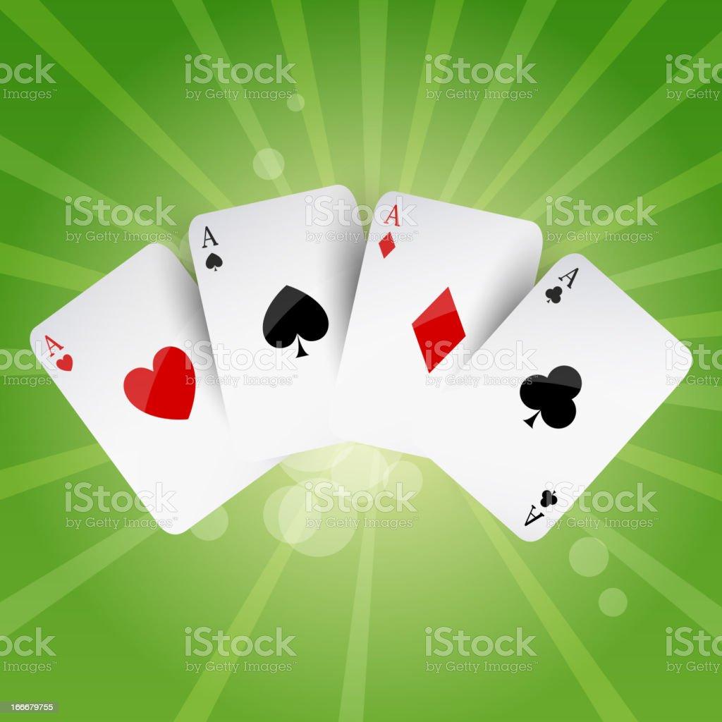 Vector Poker Aces royalty-free stock vector art