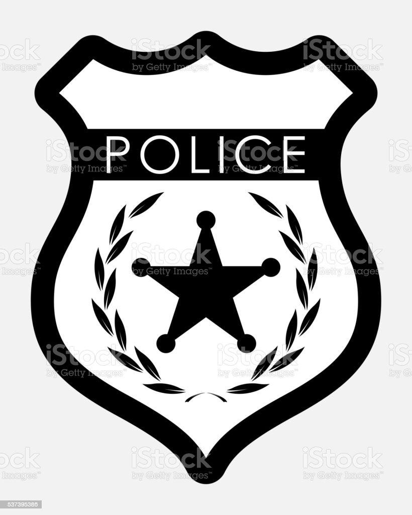 Vector Police Badge Isolated Illustration vector art illustration