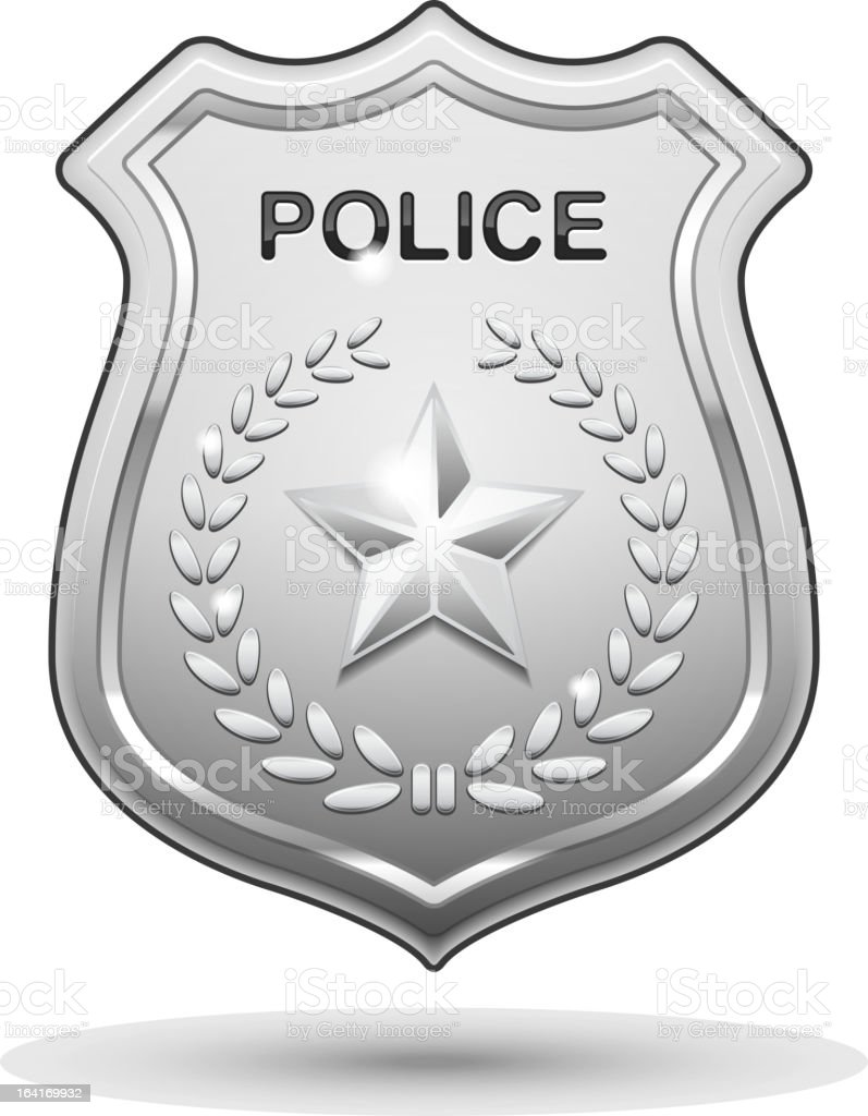 Vector Police Badge vector art illustration