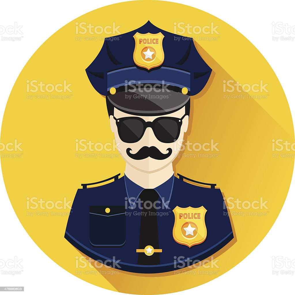 Vector Policeman Icon royalty-free stock vector art