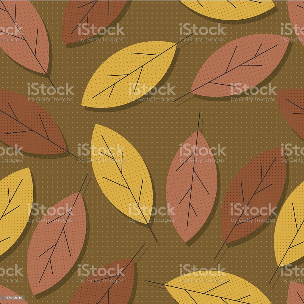 vector pop art style seamless autumn leaves wallpaper pattern royalty-free stock vector art