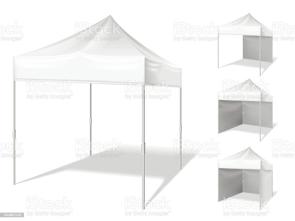 Vector pop up tent for outdoor event vector art illustration