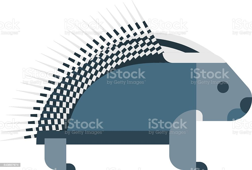 Vector porcupine icon. vector art illustration