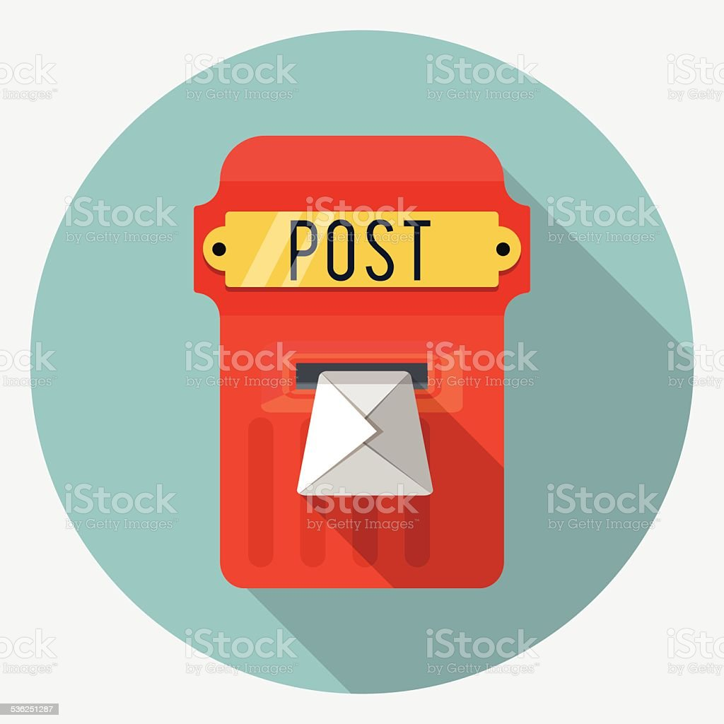 Vector postbox icon vector art illustration