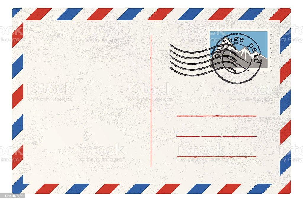 Vector Postcard vector art illustration