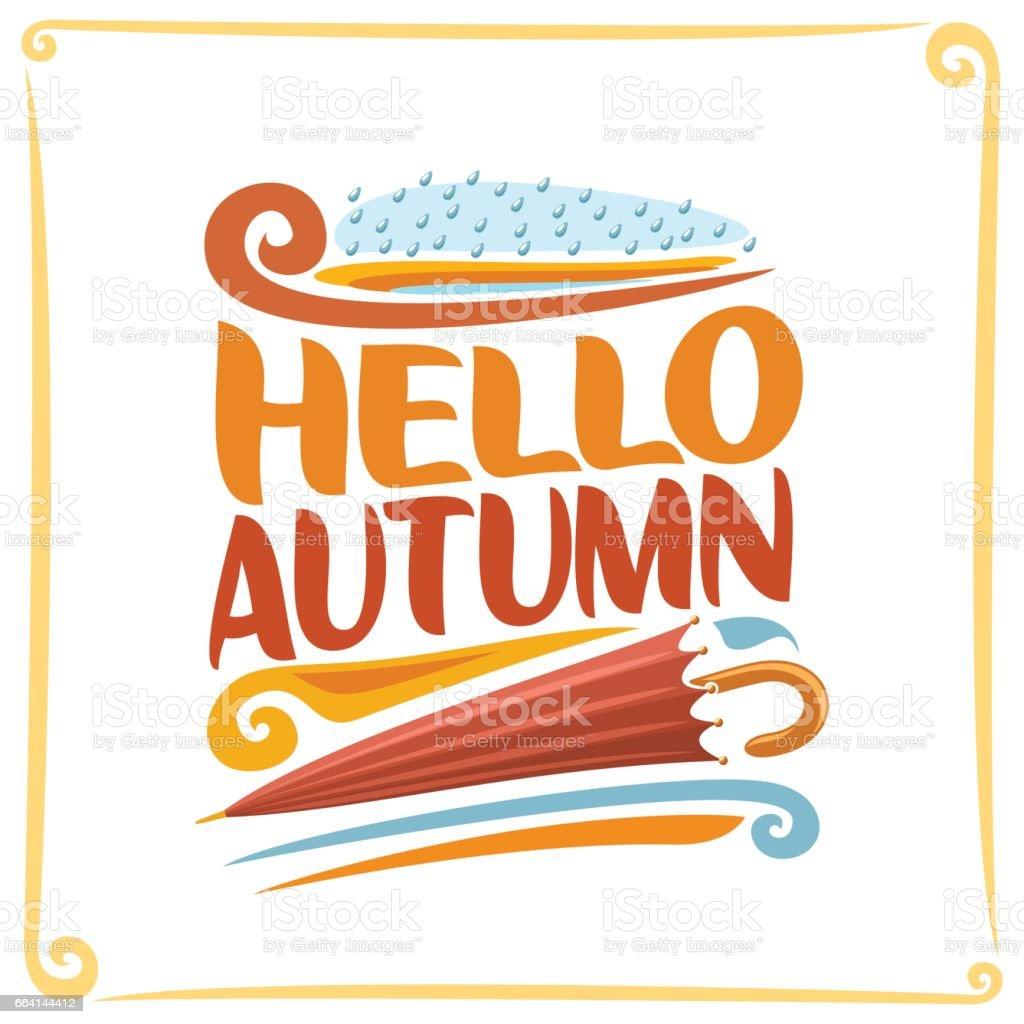 Vector poster for Autumn vector art illustration