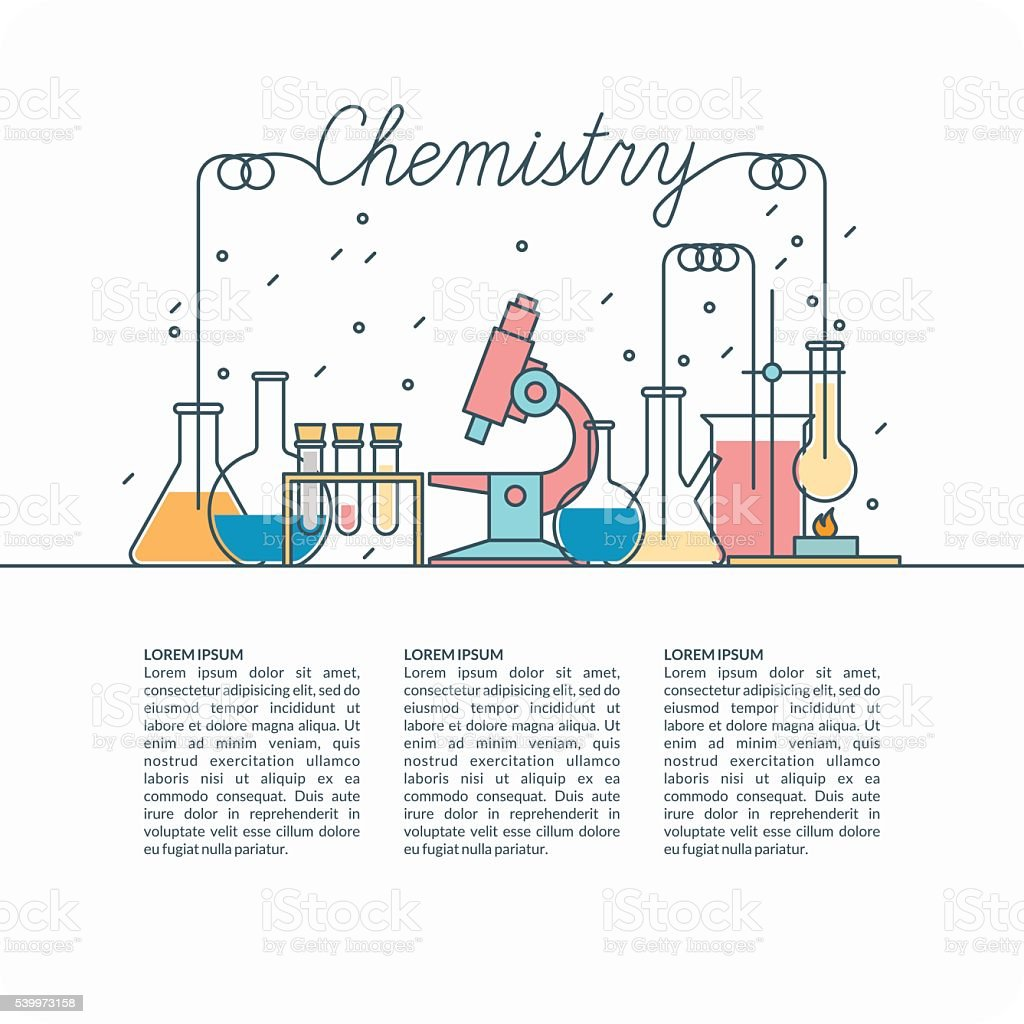 Vector poster for Chemistry. vector art illustration