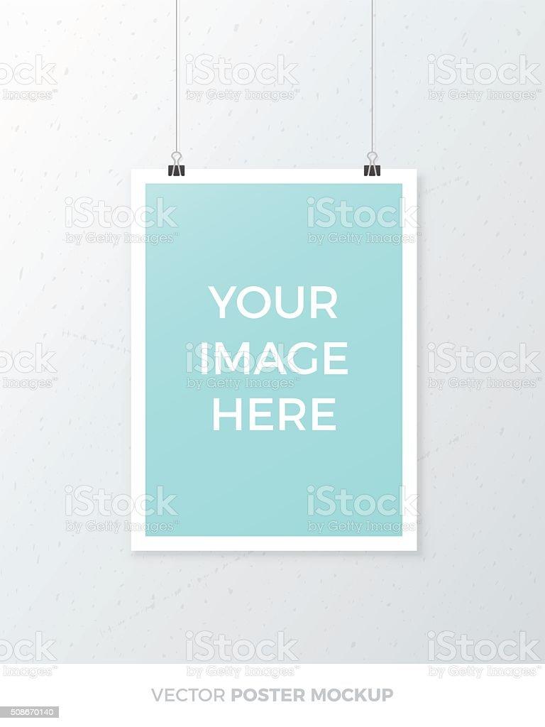 Vector Poster Mockup vector art illustration