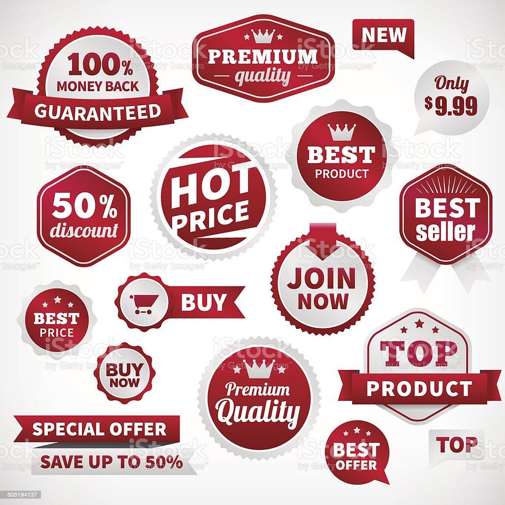 vector price offer banner labels set vector art illustration