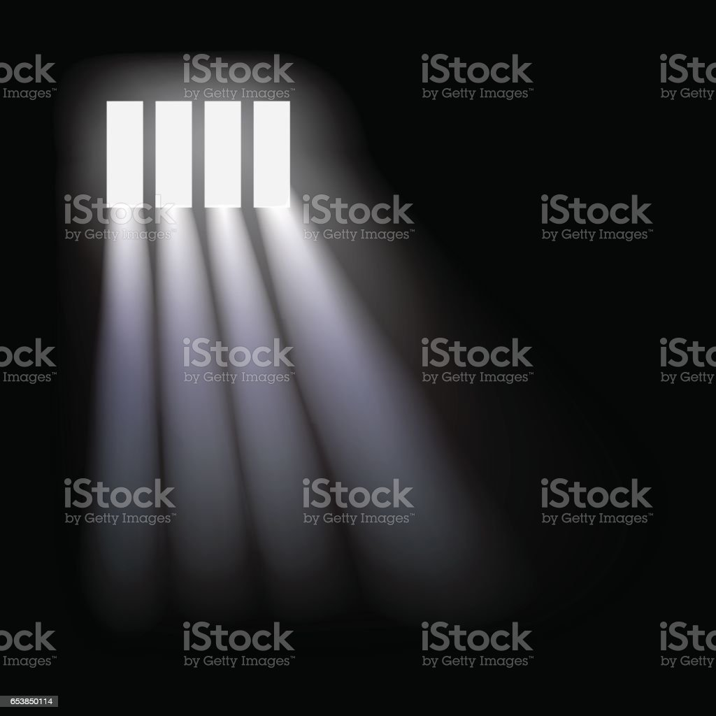 Vector prison window background. vector art illustration