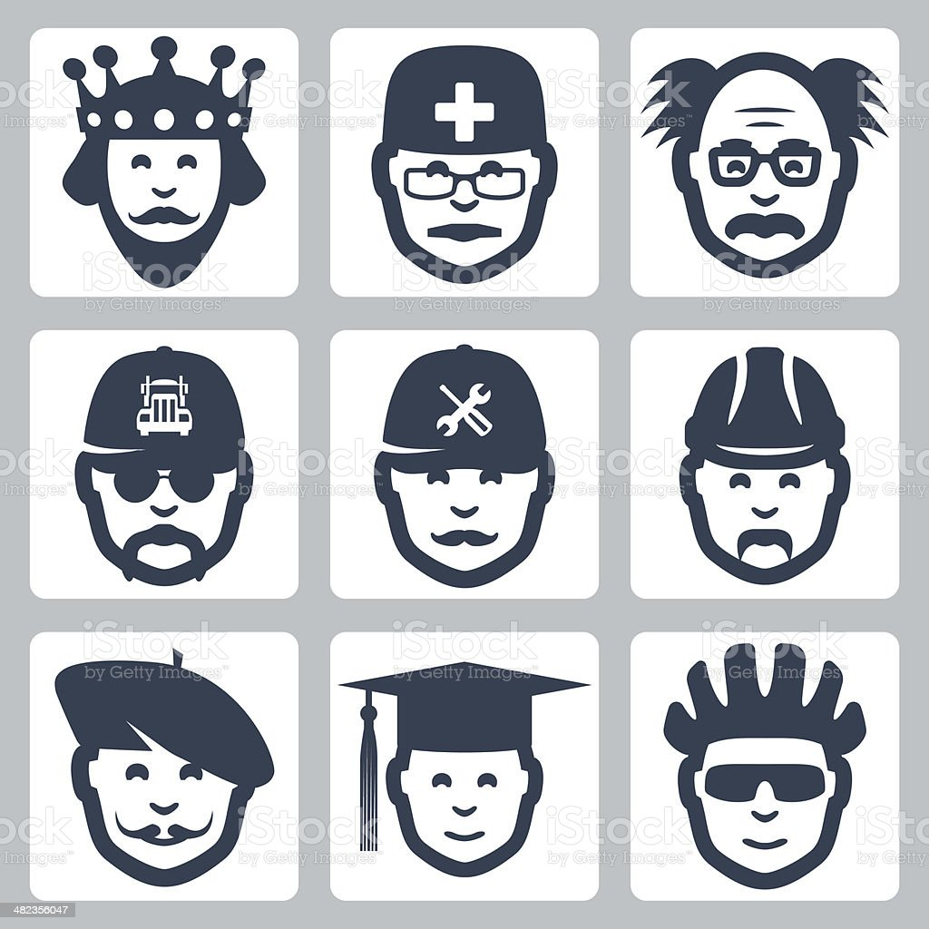 Vector profession icons set #1 vector art illustration