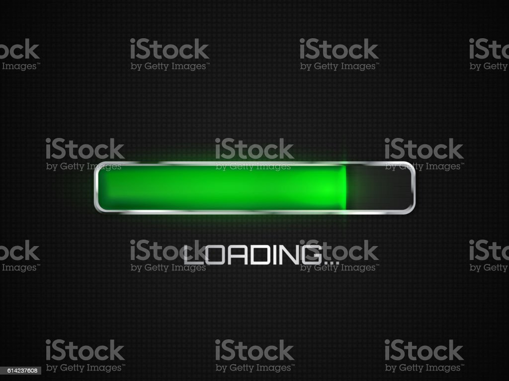 Vector progress loading bar. vector art illustration