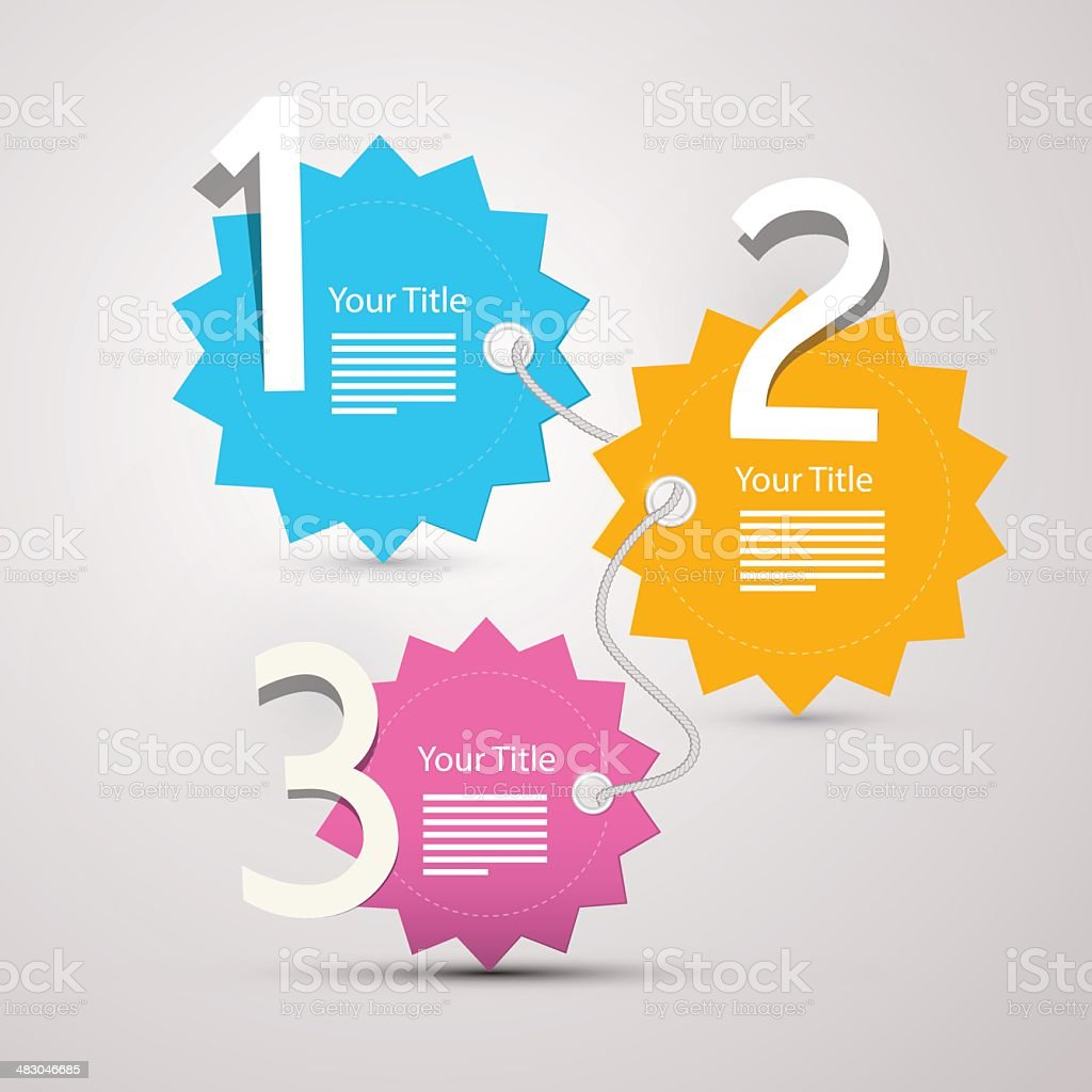Vector progress steps for tutorial royalty-free stock vector art