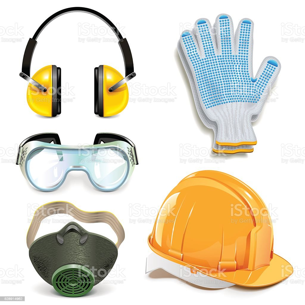 Vector Protective Equipment vector art illustration