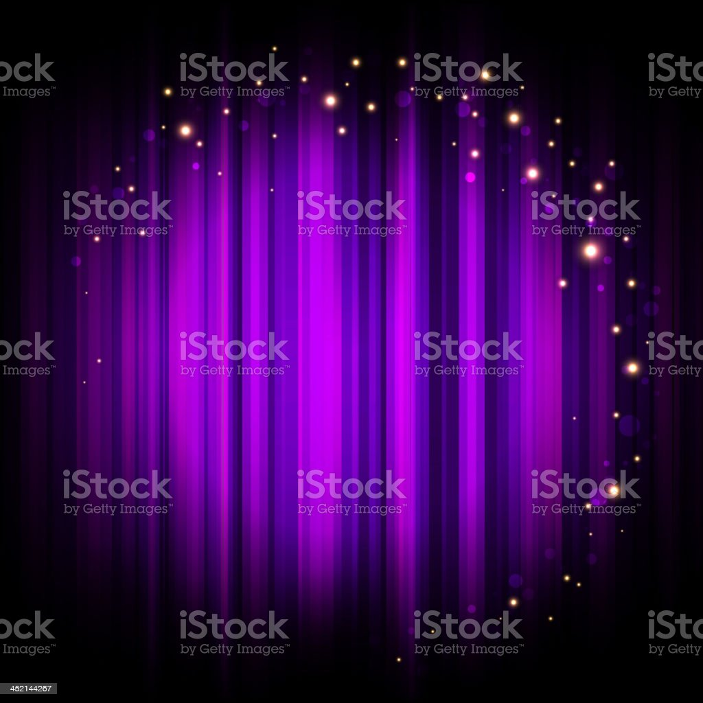 Vector purple stage background with lights royalty-free stock vector art