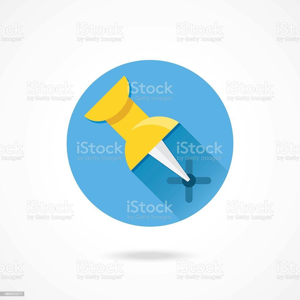 Vector Push Pin Icon royalty-free stock vector art