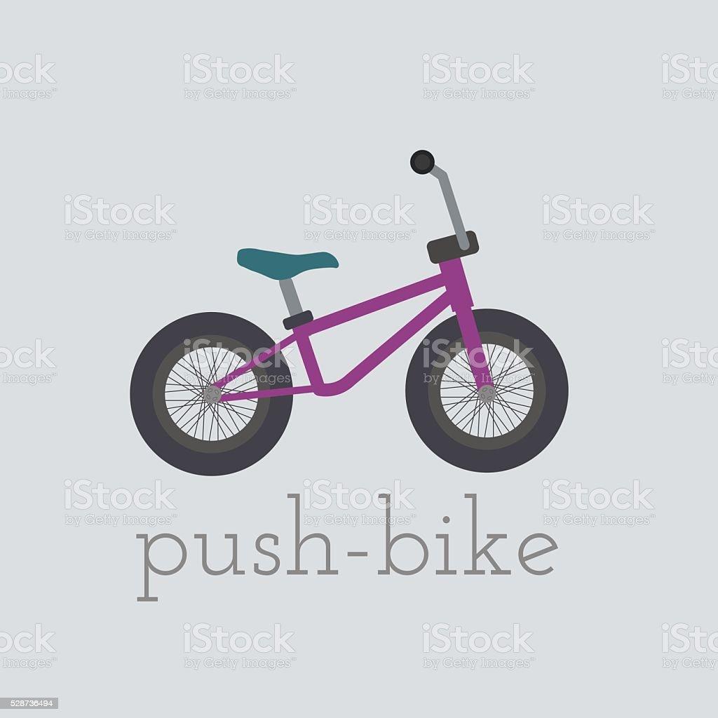Vector push-bike illustration vector art illustration