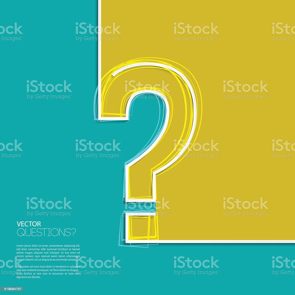 Vector question mark icon in flat design. vector art illustration