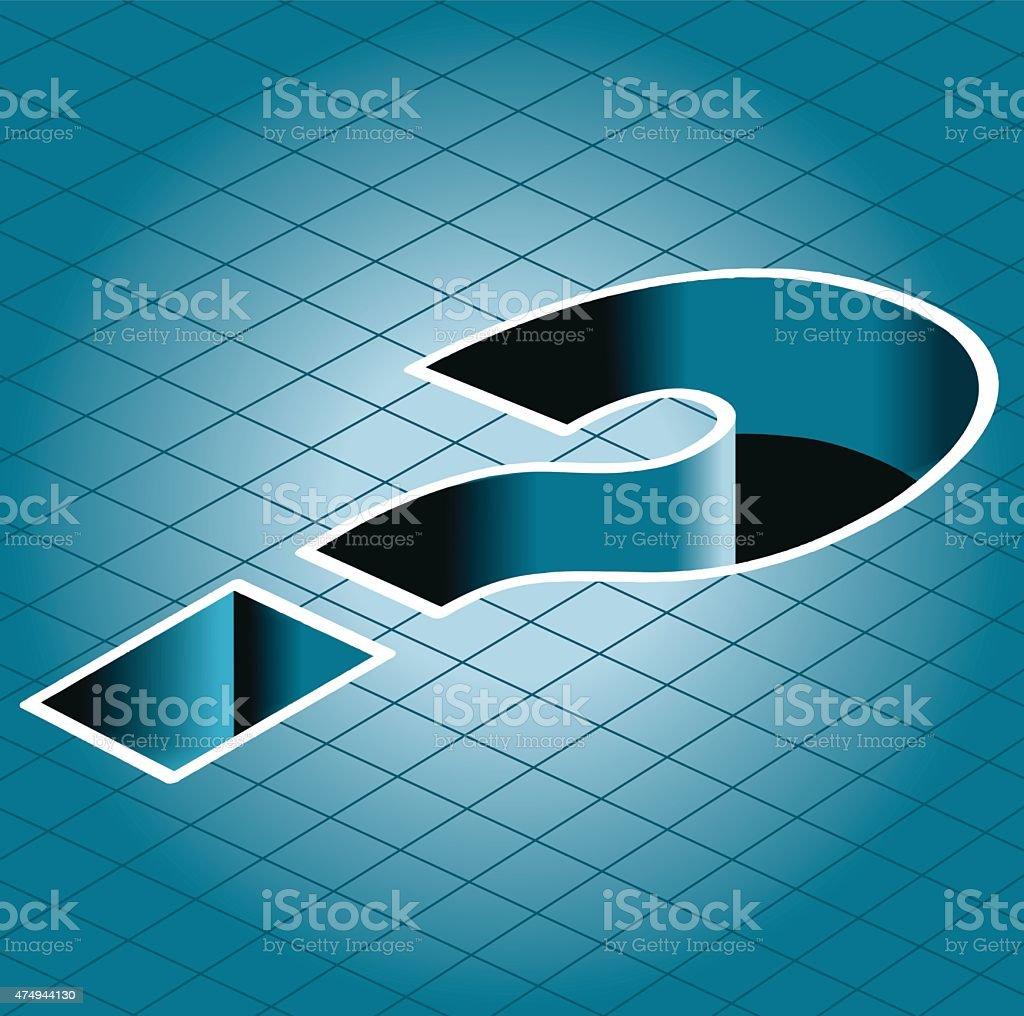 vector question mark vector art illustration