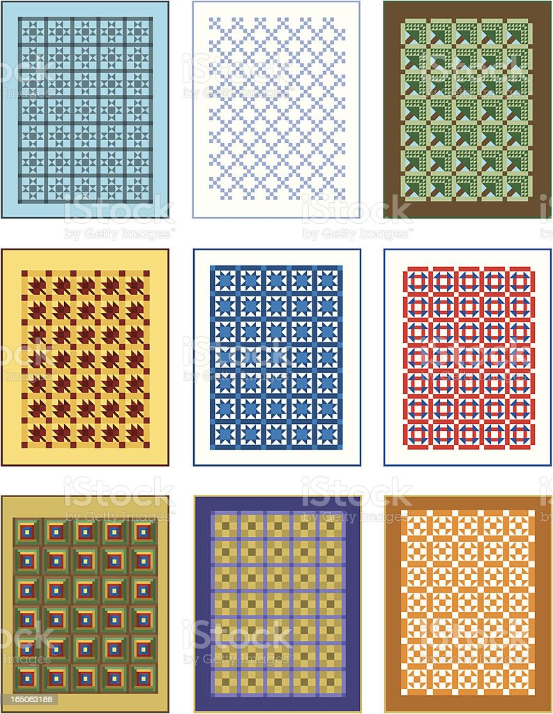Vector Quilts royalty-free stock vector art