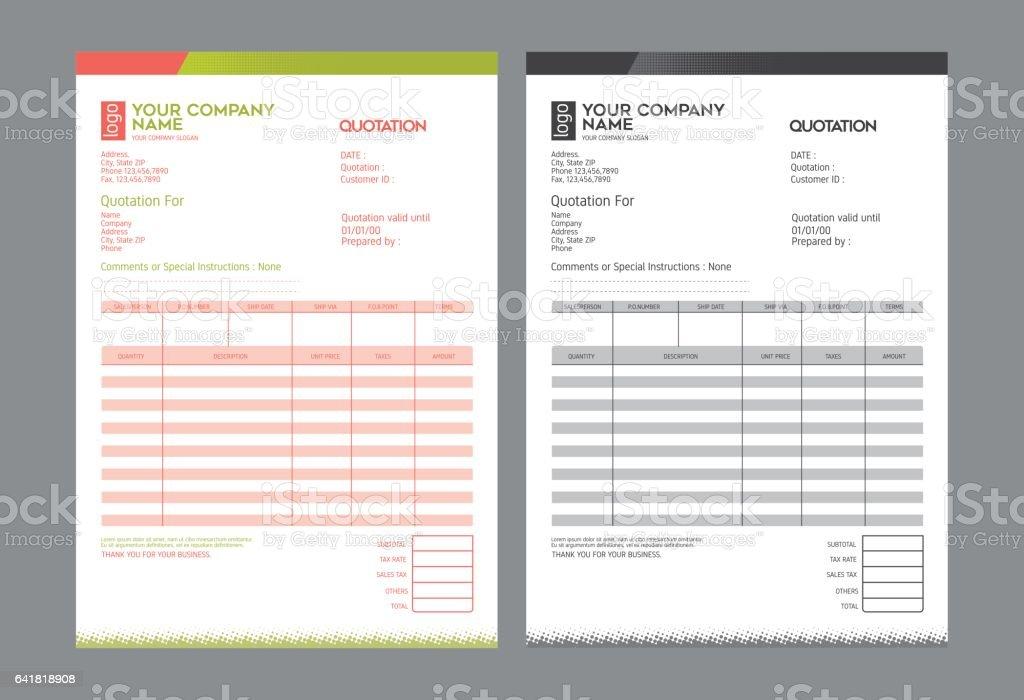 Vector quotation design template, royalty-free stock vector art