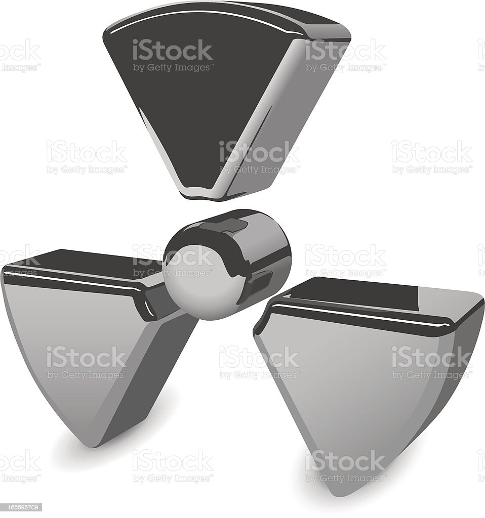Vector Radiation Symbol royalty-free stock vector art