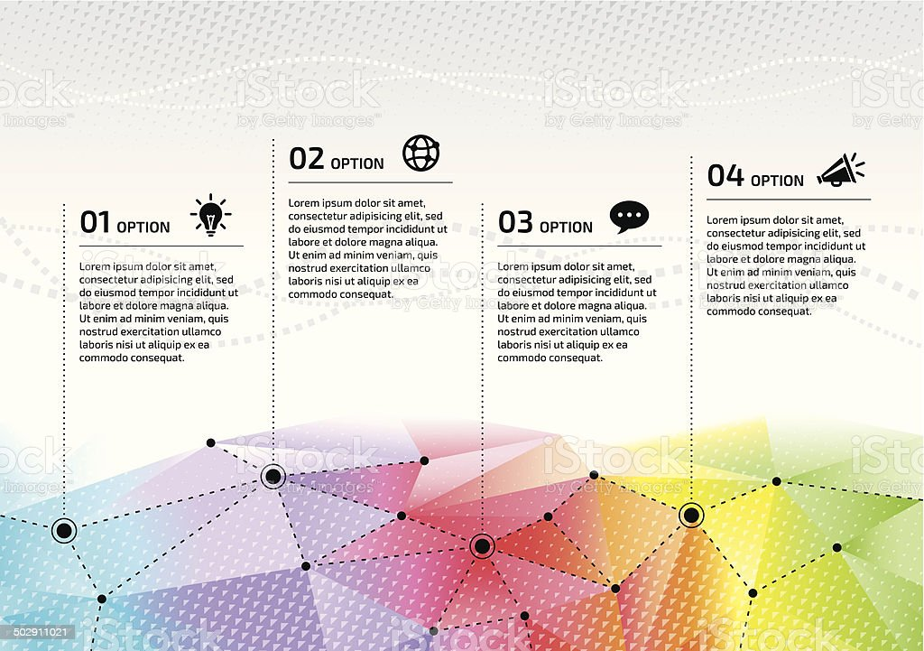 Vector rainbow network options graphic design vector art illustration