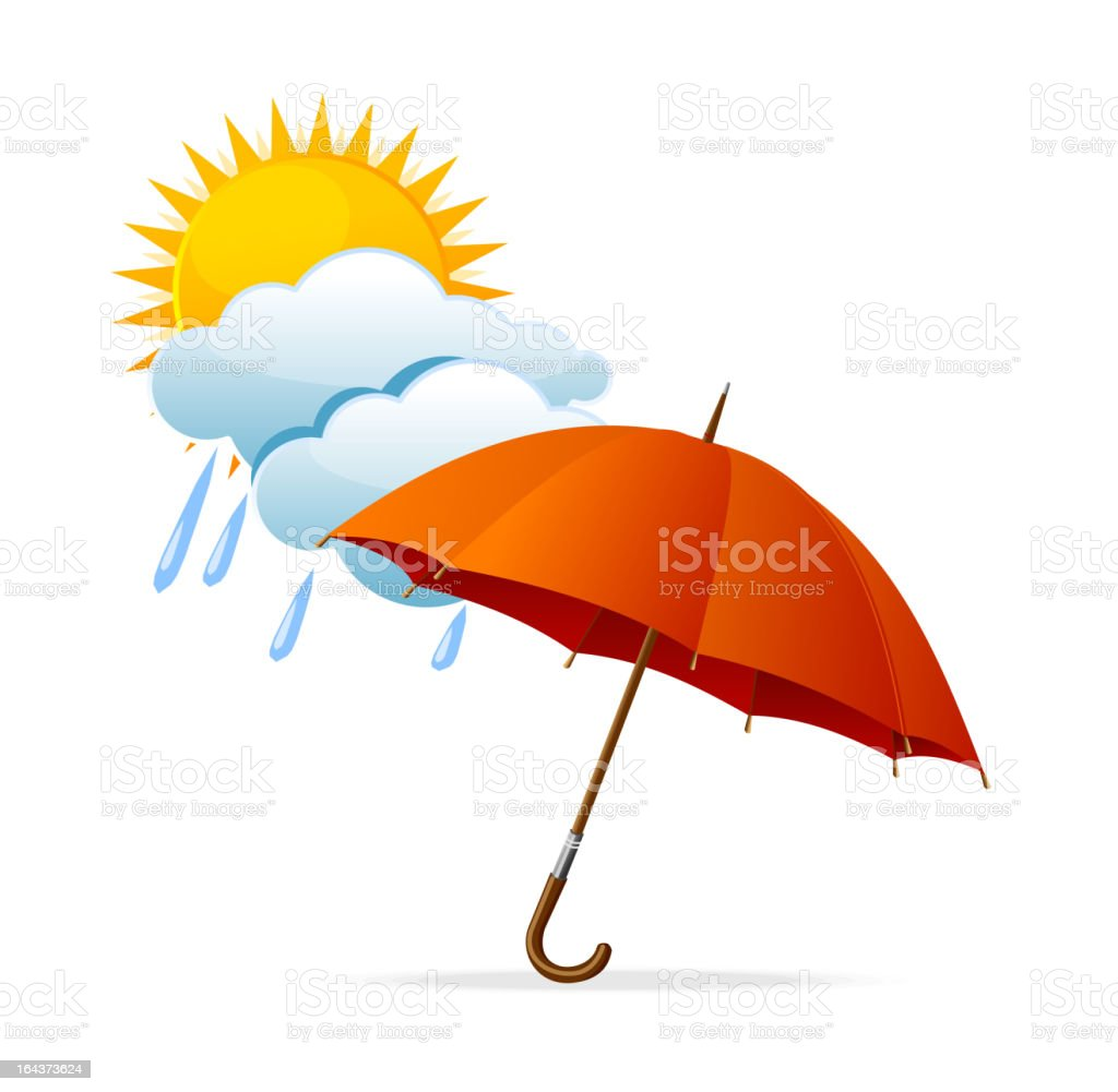 Vector rainy weather icon royalty-free stock vector art