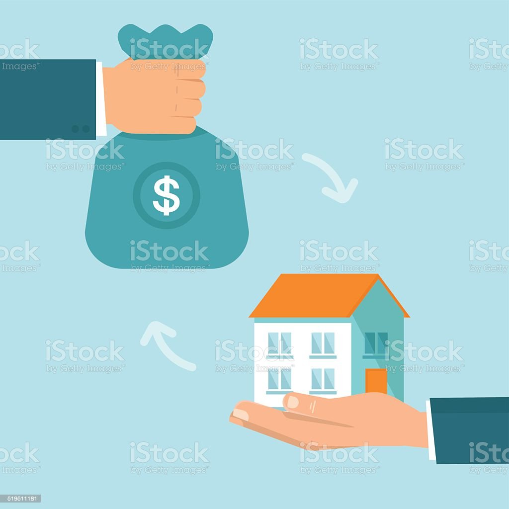 Vector real estate concept in flat style vector art illustration