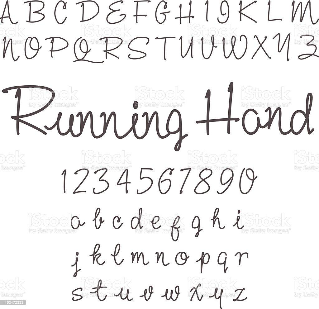 vector real hand alphabet vector art illustration