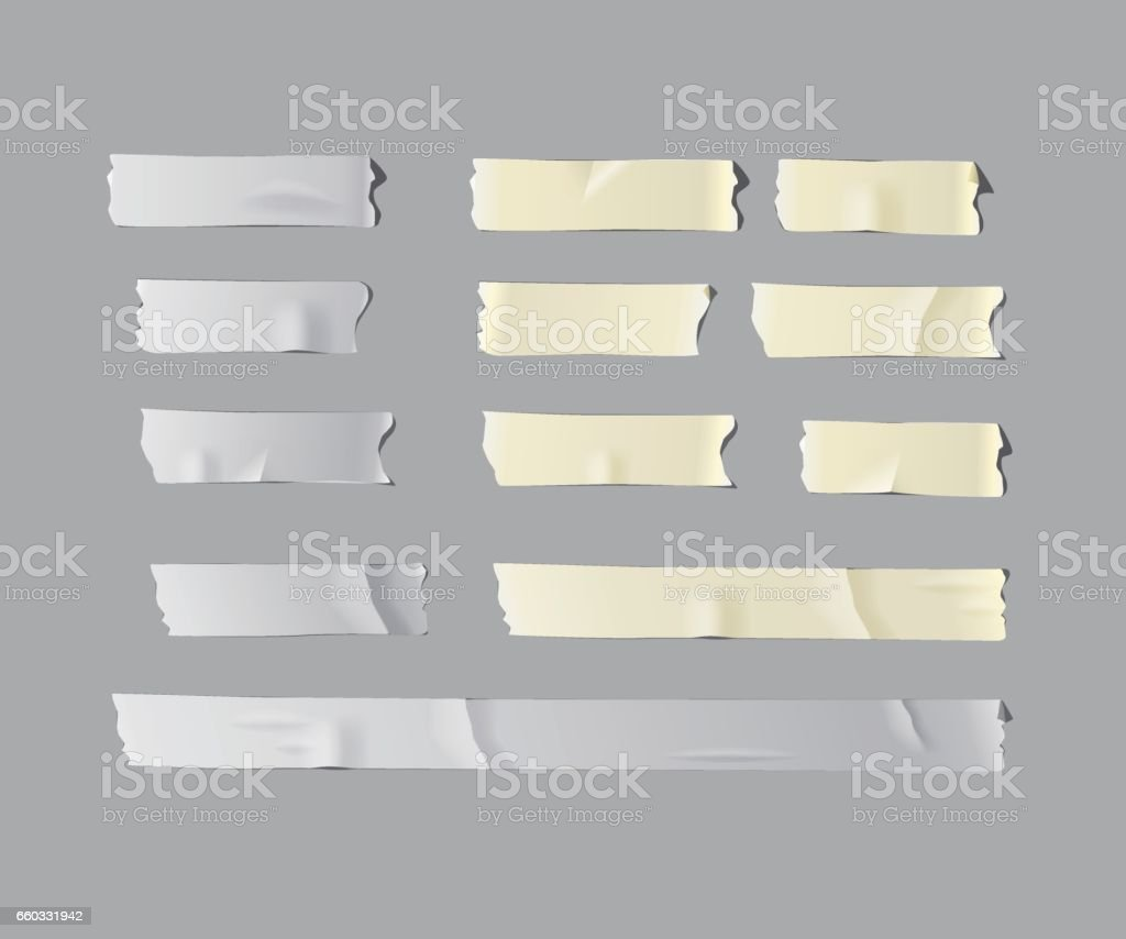 Vector  realistic isolated adhesive tape set. vector art illustration