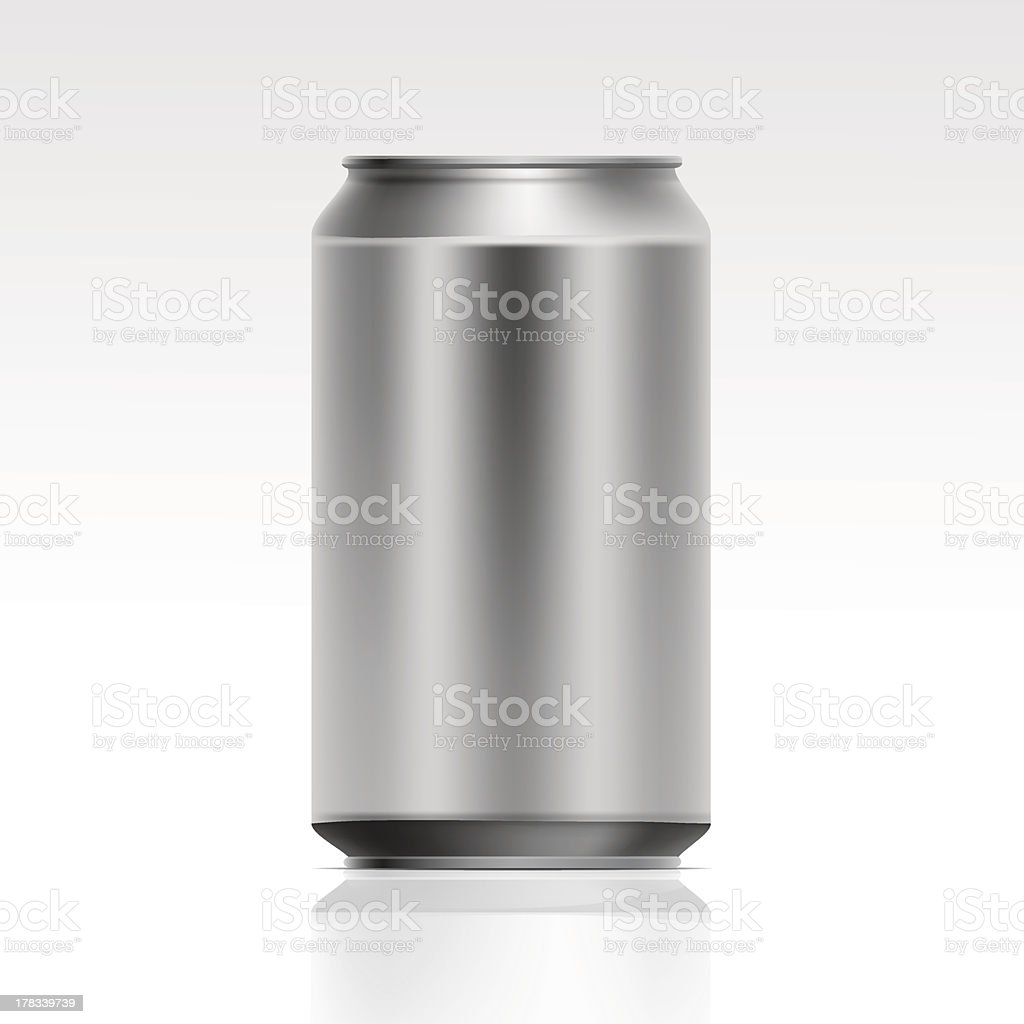 Vector Realistic Metal Can royalty-free stock vector art