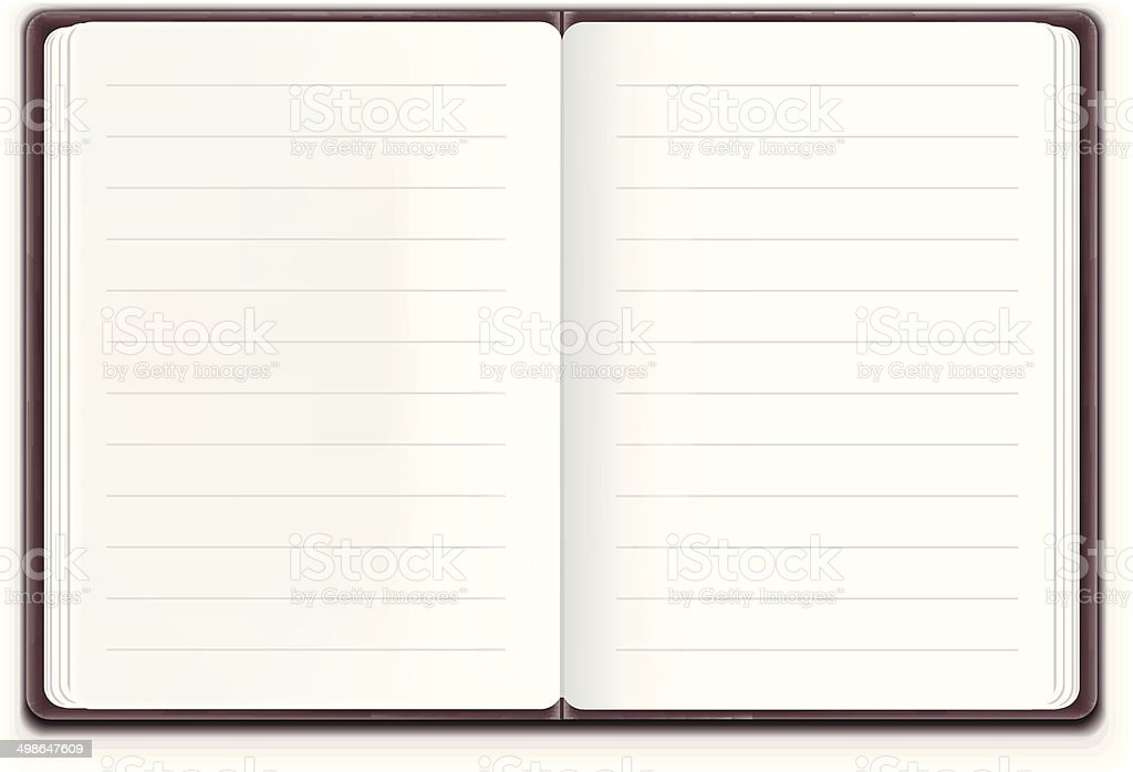 Vector Realistic Open Notebook royalty-free stock vector art