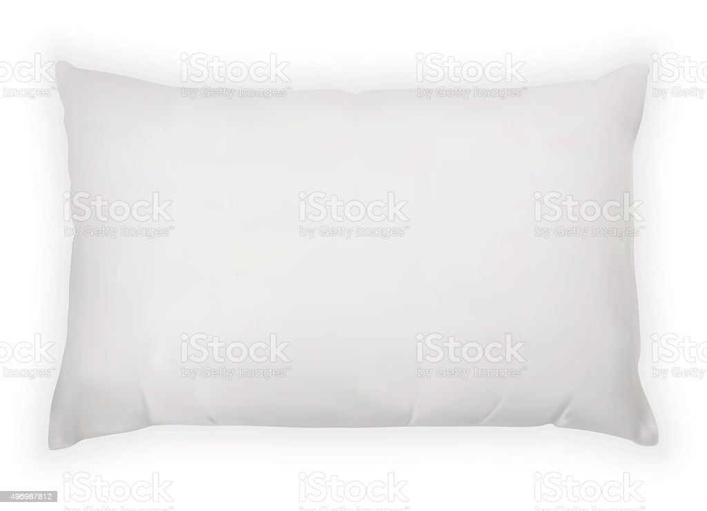 vector realistic pillow vector art illustration