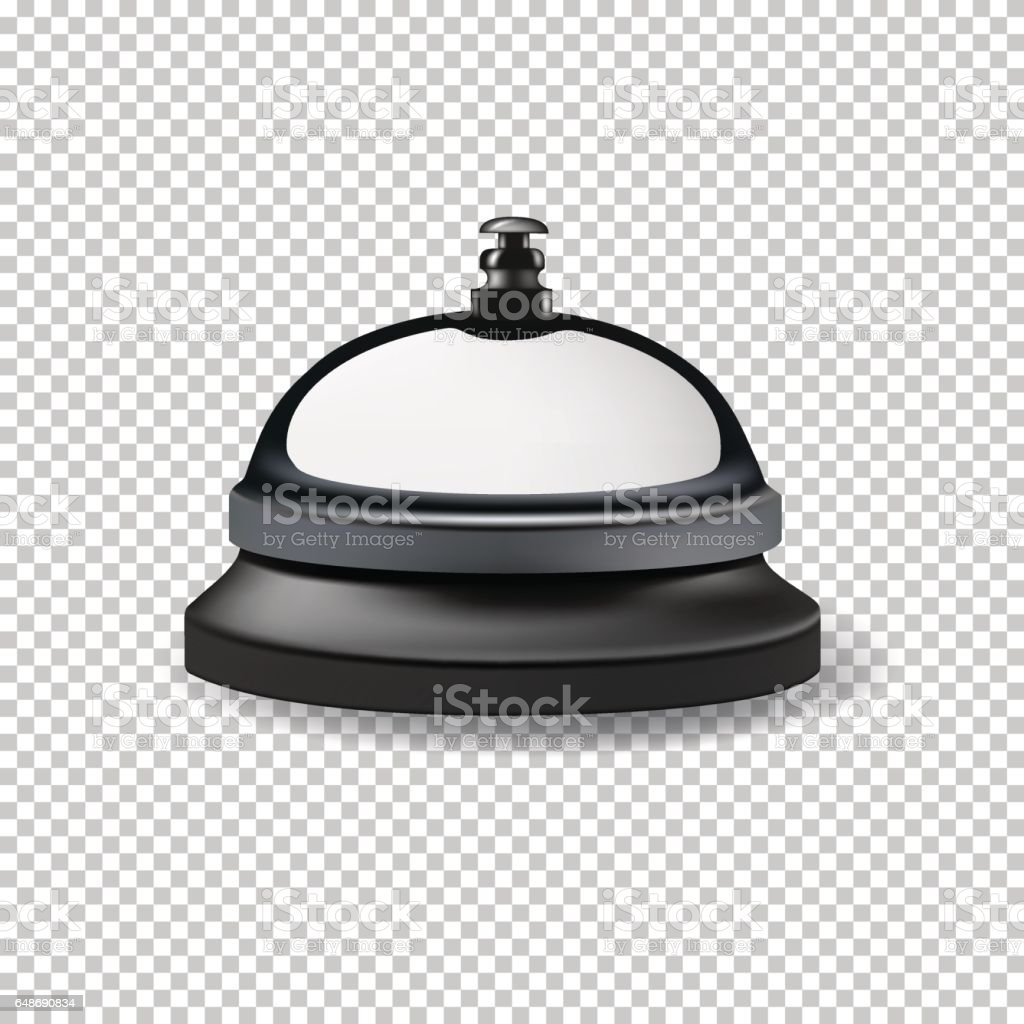 Vector realistic reception bell isolated on transparent background. vector art illustration