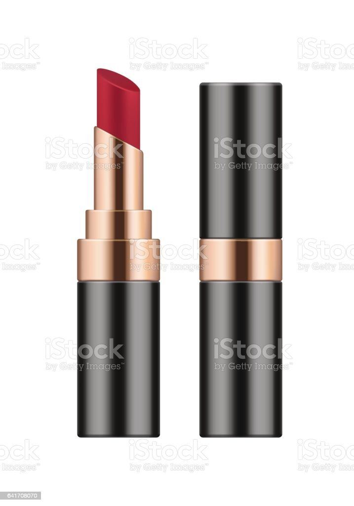 Vector realistic sexy red lipstick. vector art illustration