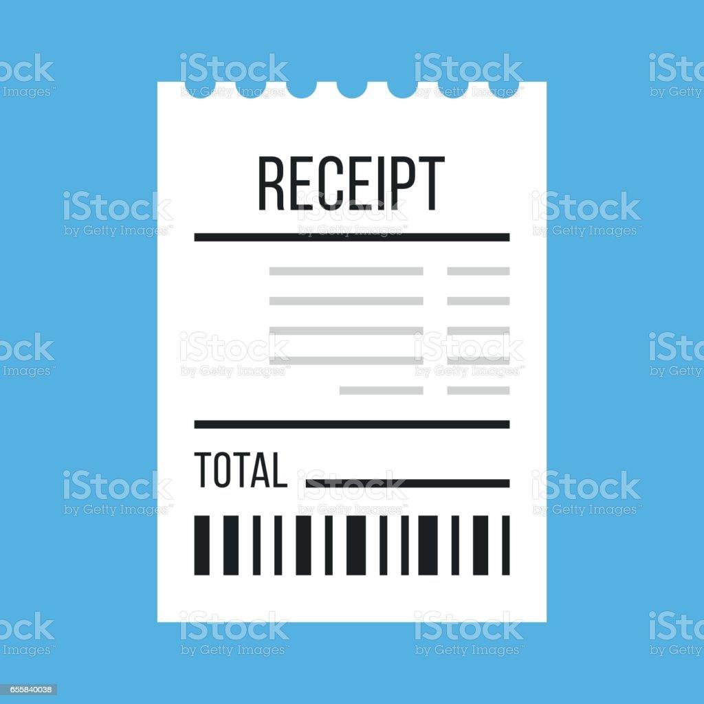 Vector receipt icon. Flat design vector illustration vector art illustration