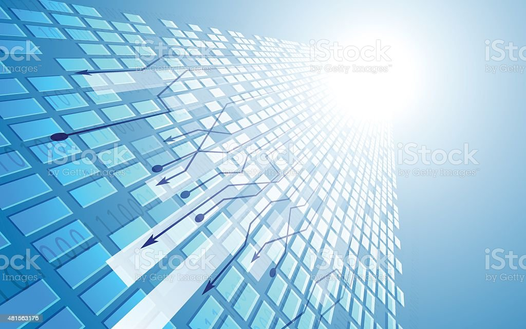 vector rectangle perspective blue background vector art illustration
