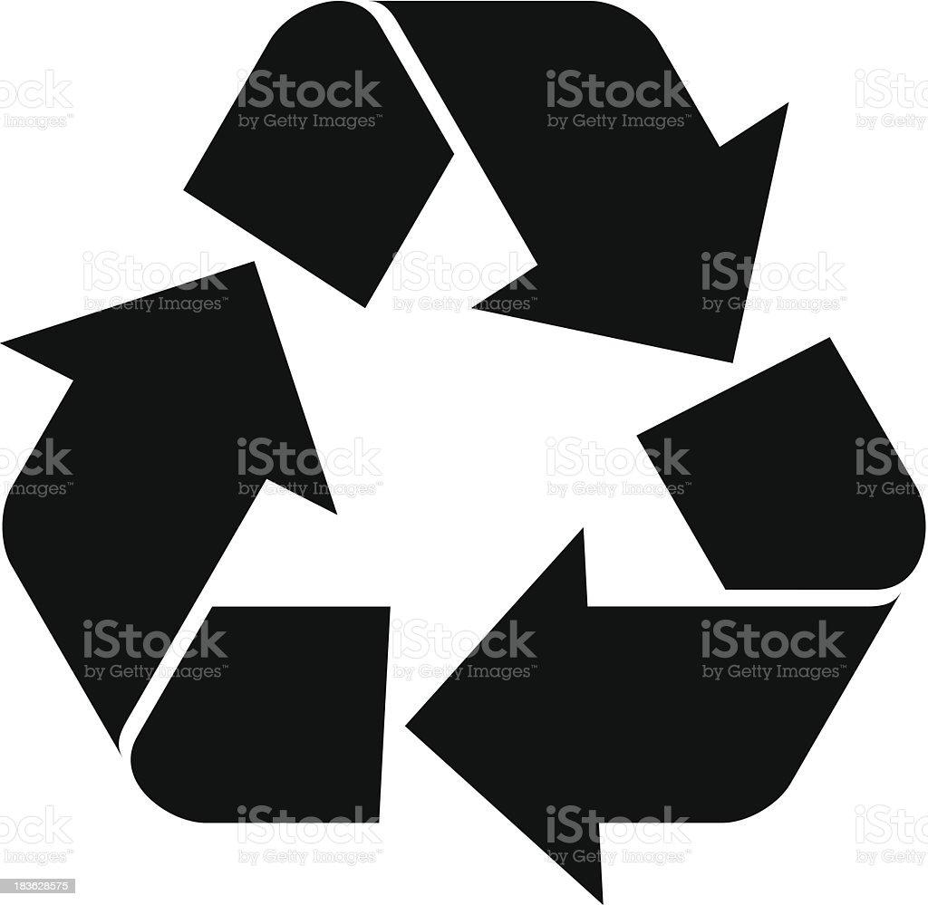 Vector Recycling Symbol vector art illustration