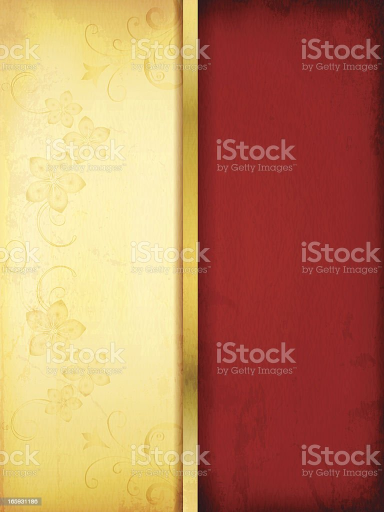 Vector Red and golden Background royalty-free stock vector art