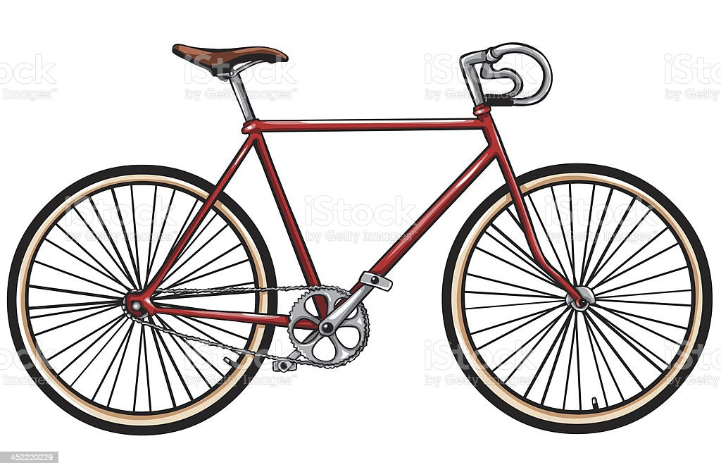 vector red bicycle vector art illustration