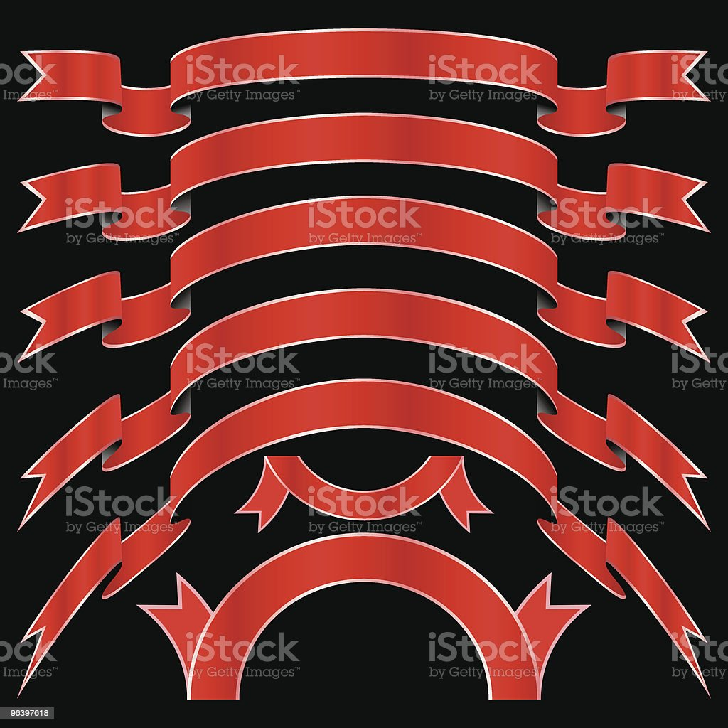vector red bows royalty-free stock vector art