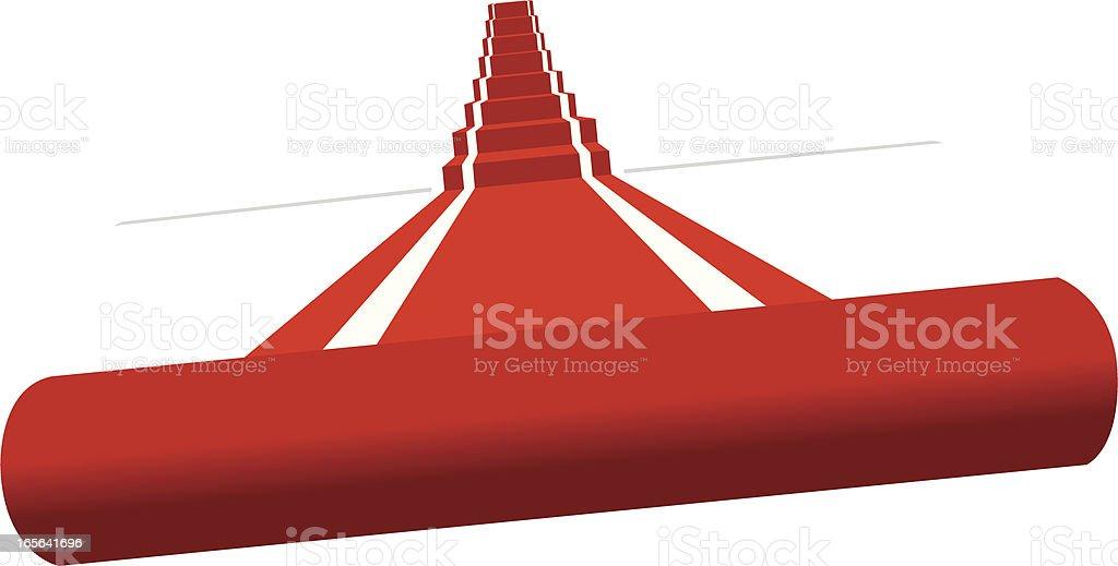 vector red carpet vector art illustration