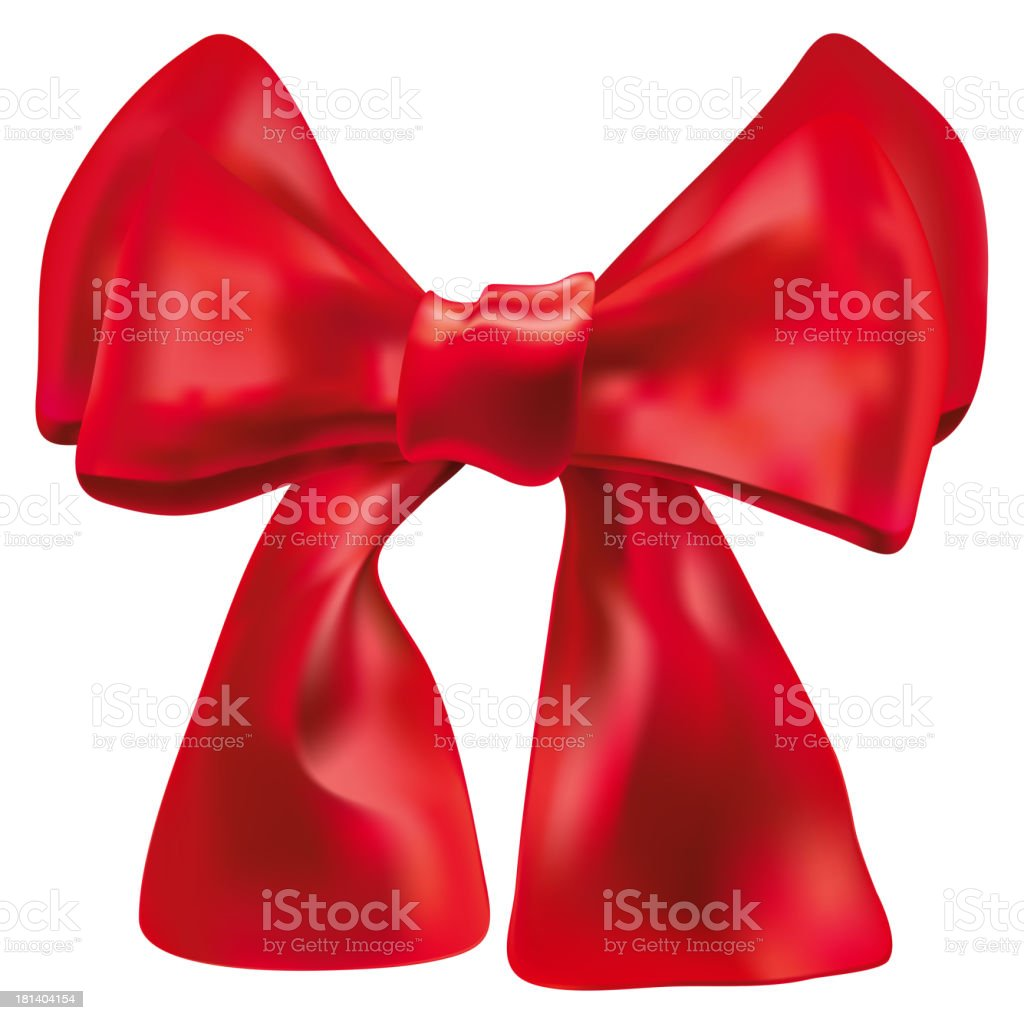 Vector red double bow over white royalty-free stock vector art