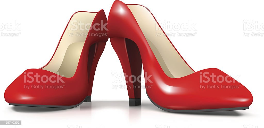 Vector Red Female Shoes royalty-free stock vector art