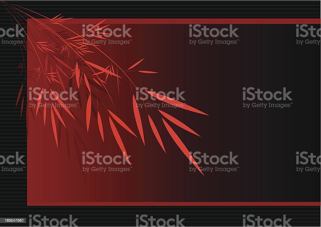 Vector red leaves over nice red backgroud royalty-free stock vector art