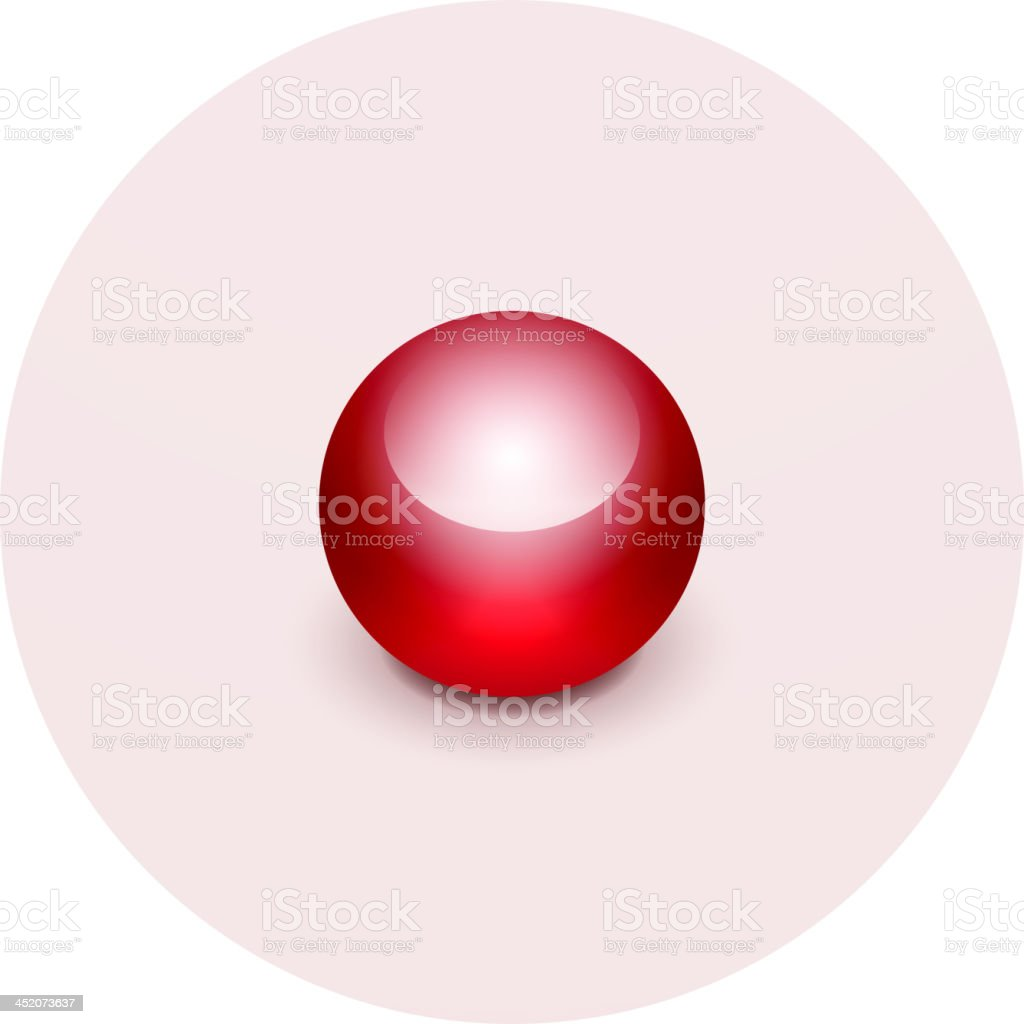 Vector red map pointer royalty-free stock vector art