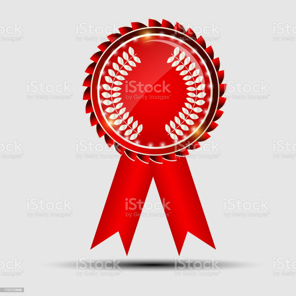 Vector red sign, label template royalty-free stock vector art