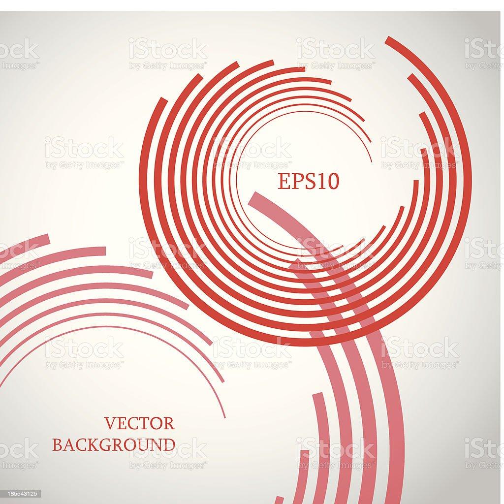 Vector red stripes vector art illustration