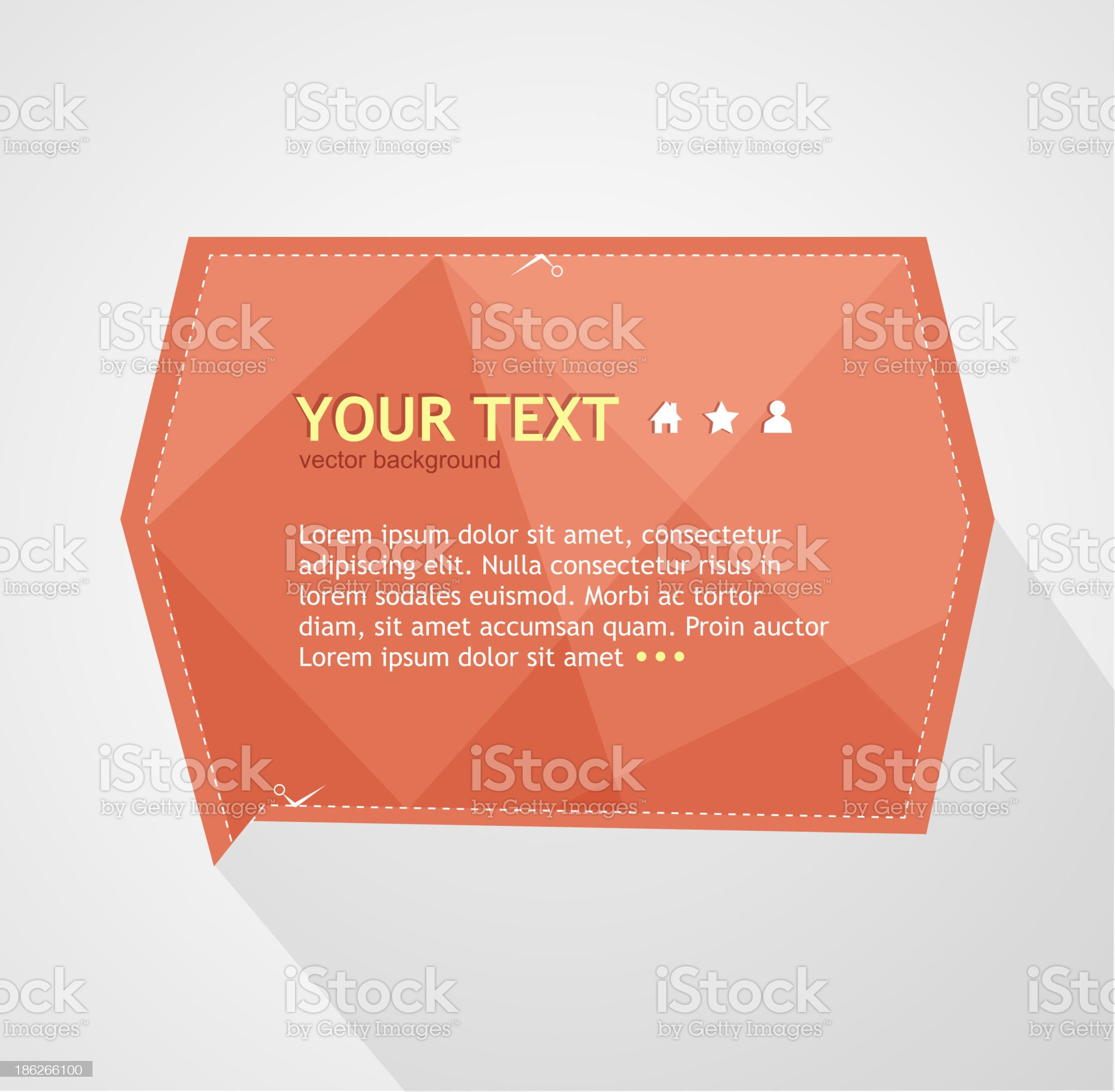 Vector red text box royalty-free stock vector art